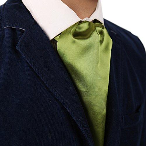 Dan Smith DRA7E01S Yellow Green Solid Polyster Mens Ascot Birthday Groomsmen Cravat Manufacturers Gift -