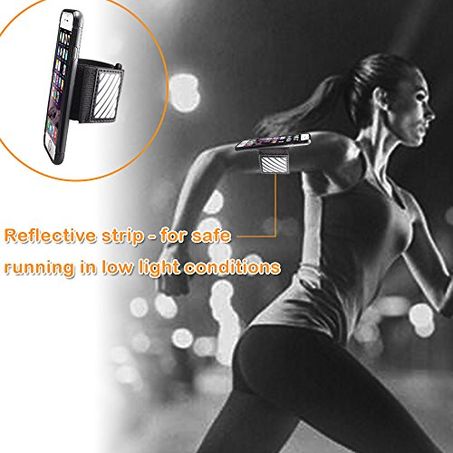 WANPOOL Sport Armband for iPhone ( Black ) - Open-Face Armband / Wristband Holder, Includes Standard Strap To Fit 11''-20'' Arm Circumferences & Extra Small Strap To Fit 7''-12'' … (iPhone 6(s) Plus) by WANPOOL (Image #6)