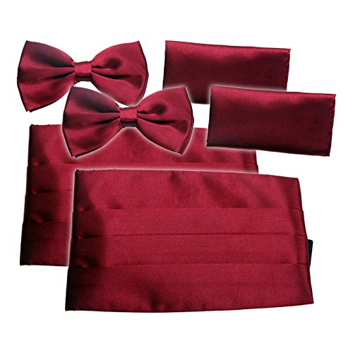 HDE 2 Pack Solid Color Poly Satin Tuxedo