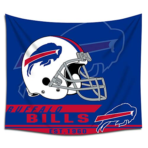 - Jacoci Buffalo Bills Wall Tapestry Hanging Cool Design for Bedroom Living Room Dorm Handicrafts Curtain Home Decor Size 50x60 Inches