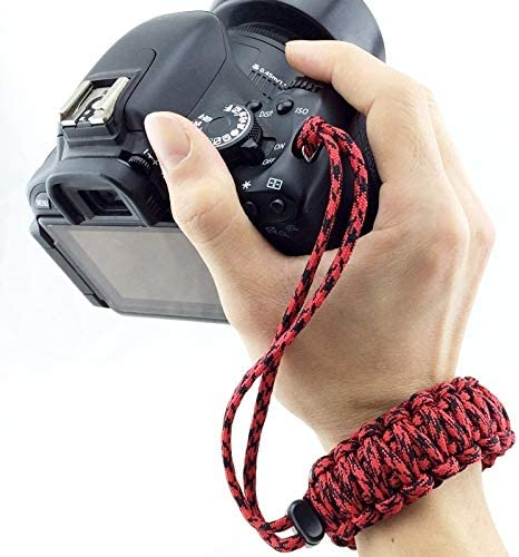 Random Color Delivery HUIFANGBU JHY DIY Weave Style Anti-Lost Colorful Wrist Strap Grip Emergency Survival Bracelet for DSLR//SLR Cameras