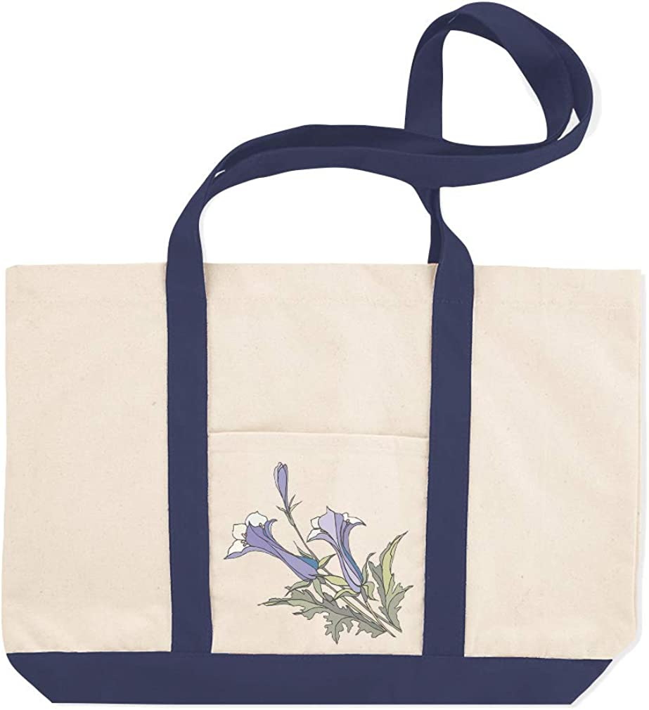 Canvas Shopping Tote Bag Flowers Vintage Look N Botanical /& Blossom Beach Bags for Women