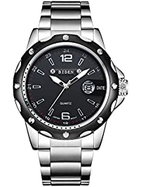 mens wrist watches amazon com watches men watches black stainless steel wrist watch for men quartz dress casual analog watch