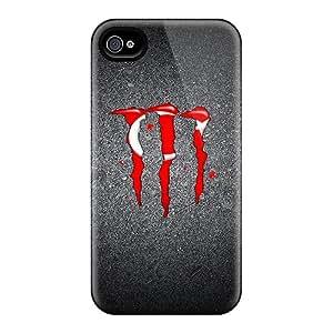 LauraAdamicska Iphone 4/4s Bumper Mobile Cases Provide Private Custom Stylish Monster Series [OcN17452bjCR]