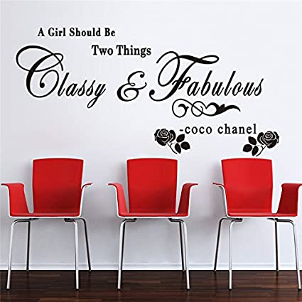 Amazon Com Rwqer Home Decor Wall Sticker Quote A Girl Should Be Two