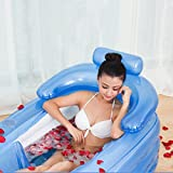 PENSON & CO. Inflatable Bath Tub PVC Portable Adult Bathtub Bathroom SPA with Air Pump