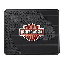 Harley-Davidson Utility Mat, Factory Orange Bar & Shield Floor Mat, Black 1073