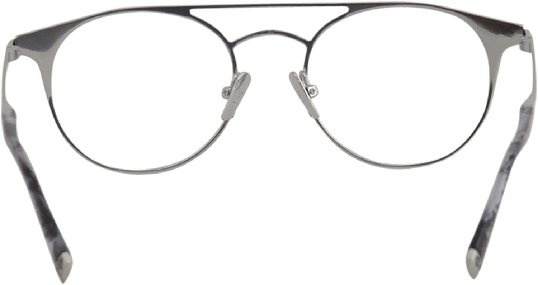 JOHN VARVATOS Eyeglasses V169 Matt Silver Black