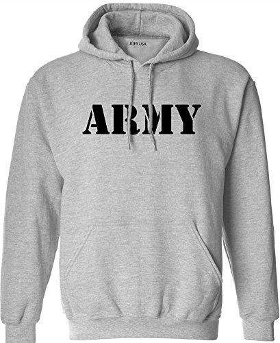 Joe's USA(tm) Military Hoodies - Army Grey Hooded Sweatshirt-2XL