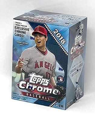 Topps 2018 Chrome Baseball Mass Value Box (8 Packs/Box)