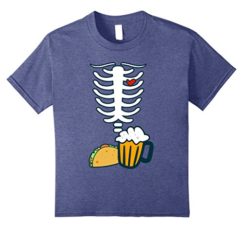 Contact Lenses For Halloween (Kids SKELETON SHIRT | Halloween Costume Beer & Tacos Lovers 8 Heather Blue)