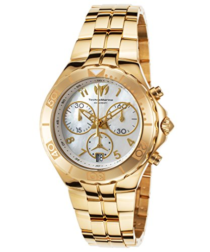 Technomarine Tm-715003 Women's Sea Pearl Chrono Gold-Tone Stainless Steel Mop Dial Watch