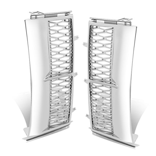 Side Vent Mesh Grille (Chrome Surface Silver Mesh) for Land Rover Range Rover L322