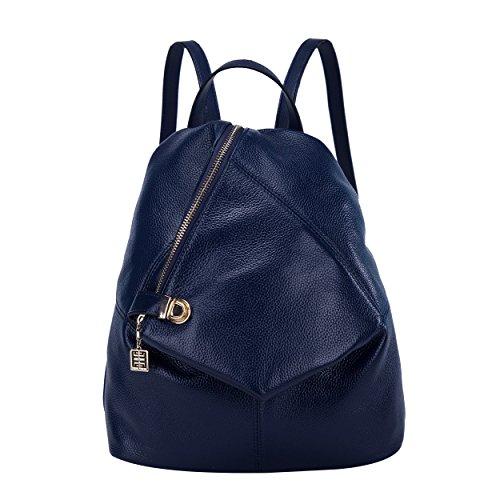 BOYATU Womens Leather Backpacks Ladies Travel Purse Satchel Shoulder School Bags(Royal bule) by BOYATU (Image #7)