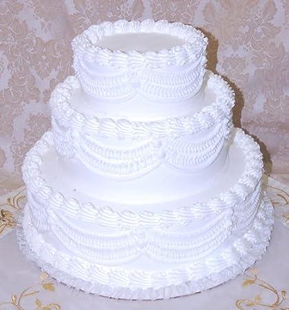Amazon Com 16 3 Tier Stacked Fake Wedding Cake Fake Food Home