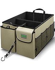 Drive Auto Trunk Organizers and Storage - Collapsible Multi-Compartment Car Organizer w/ Adjustable Straps - Automotive Consoles & Organizers