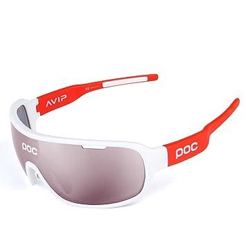 CDSS Gafas de ciclismo Luz polarizada Protección UV Protección Gafas de sol deportivas Viene con 2