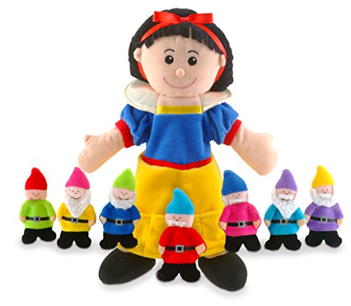 Fiesta Crafts Snow White Hand and Finger Puppet Set