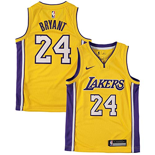 30af0780cef Nike Youth Small (8) Kobe Bryant Los Angeles Lakers Icon Edition Jersey -  Gold