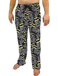 DC Comics Batman Exploded All Over Print Logo Men's Sleep Pants