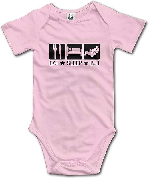 CUTEBABY Infant Eat Sleep BJJ 02 Brazilian Jiu Jitsu Short-Sleeve Sport Bodysuits