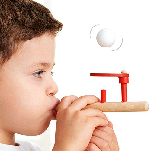 2 pcs Educational Puzzle Wooden Toys Suspension Ball Toy Blowing Magic Floating Ball Children's Educational Funny games (Abc Family 13 Days Of Halloween)