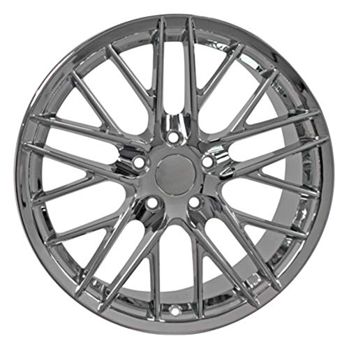 Partsynergy Replacement For Chrome Wheel Rim 18 Inch Fits 1997-2013 Chevrolet Corvette (Front) 5-120.65mm 10 Double Spokes Chrome 18x8.5