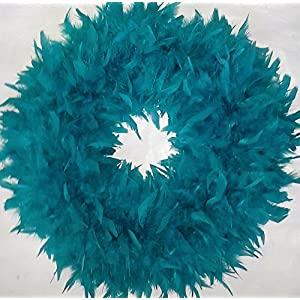 Christmas Wreaths - Beautiful & Fluffy Teal Feather Wreaths - In Stock & Ready to Ship ! ... 54