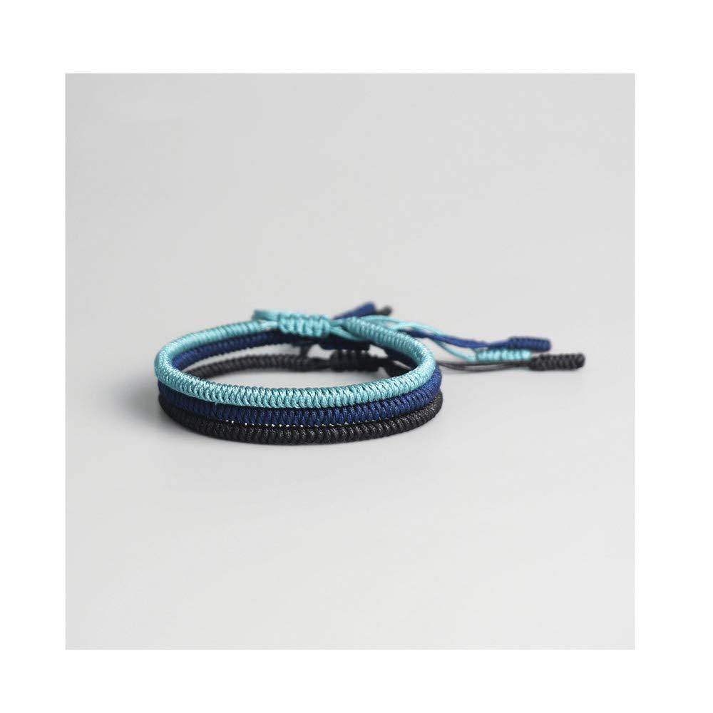 CAIYCAI Women Men 3Pcs Multi Color Tibetan Buddhist Charm Bracelets Bangles Handmade Knots Rope Bracelet