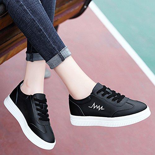 La De Las Estudiantes Black amp;G Mujeres Blancos Los Zapatos De Los Casuales Plataforma Zapatos A NGRDX De Calzan OtqZIx