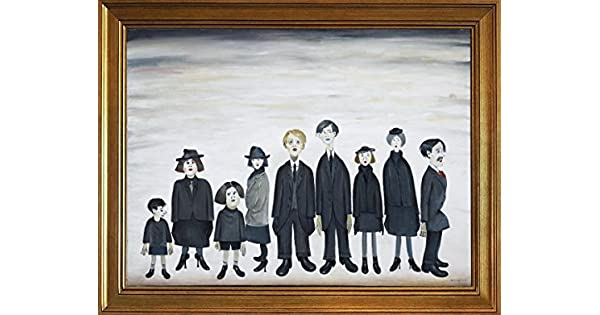 Lowry The Funeral Party Giclee Canvas Print Paintings Poster Framed L.S