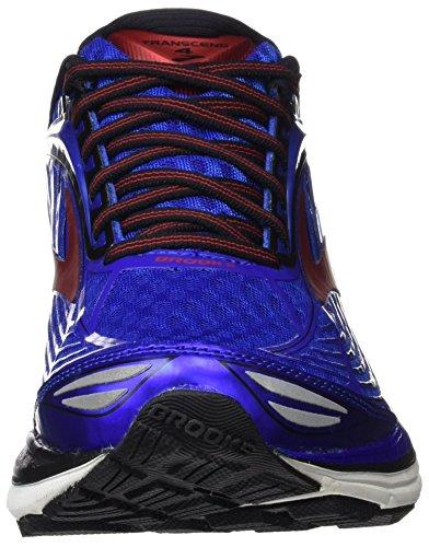 Silver Bleu Chaussures electricbrooksblue Brooks Transcend De Course Hommes 4 Black 4xOYz