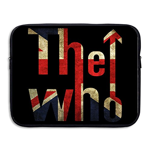 VOLTE THE WHO English Rock Band Flag Waterproof Laptop Sleeve Cover Bag Size 15 Inch