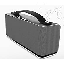XDOBO New Portable Wireless 6W Aluminum Bluetooth Speaker, with Rechargeable Battery and Bluetooth 4.0 Technology, AUX in & NFC Function, Powerful Sound Built In Mic For Hands Free Calls (Silver 6watt)