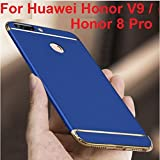 for Honor 8 Pro Cover Blue with Gold [MobiTussion] Eventual Series New Luxury 360 Degree Protection 3in1 Back Cover case for Honor8 Pro (Blue with Gold)