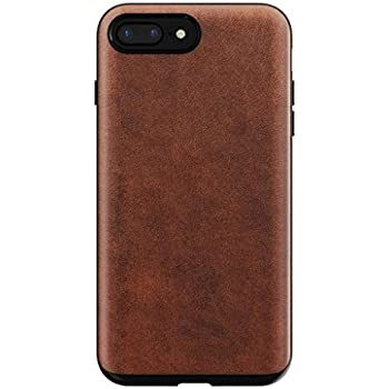 low priced c5db0 79bb9 Nomad iPhone 8/7 Plus Rugged Horween Leather Phone Case - 10ft. Drop  Protection, Raised Edges, Horween Leather - Rustic Brown