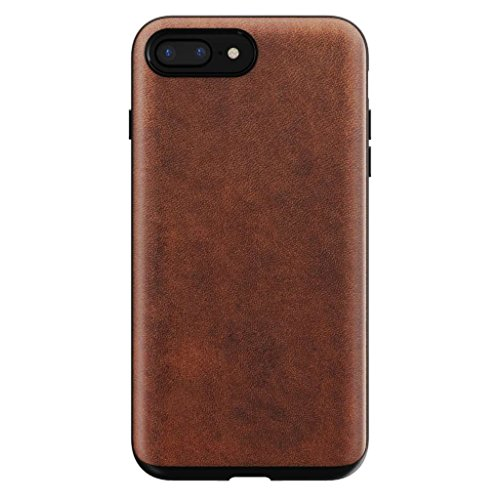 Nomad iPhone X Rugged Horween Leather Phone Case - 10ft. Drop Protection, Raised Edges, Horween Leather - Rustic Brown