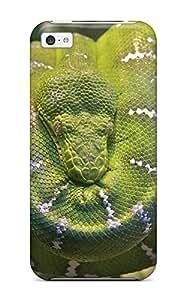 Kara J smith's Shop 2040542K72476570 Fashion Protective Emerald Tree Boa Snake Case Cover For Iphone 5c