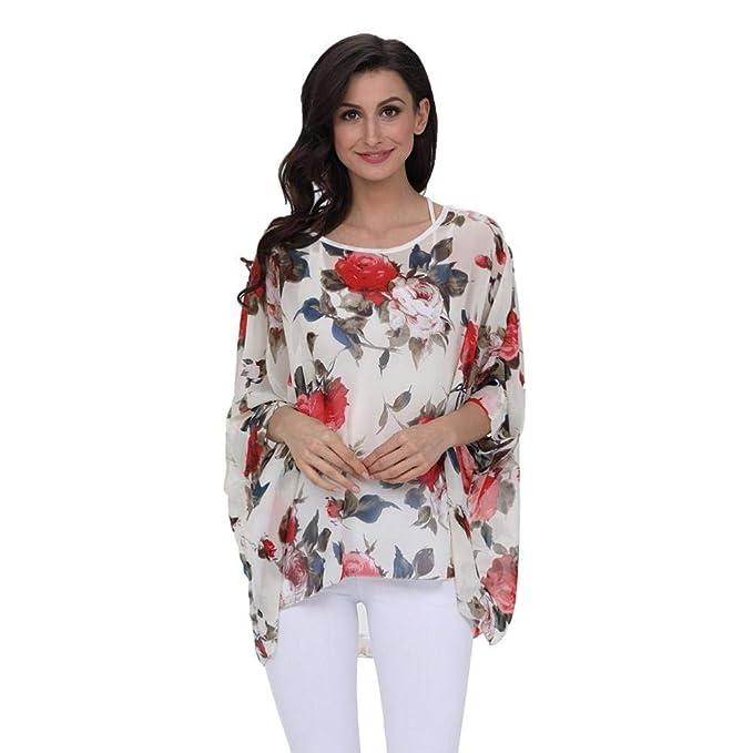 Blusas de moda floreadas