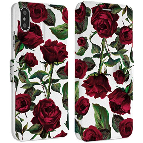 Wonder Wild Rose Print iPhone Wallet Case X/Xs Xs Max Xr 7/8 Plus 6/6s Plus Card Holder Accessories Smart Flip Hard Design Protection Cover Floral Spikes Beauty Girly Blooming Bouquet Gorgeous New