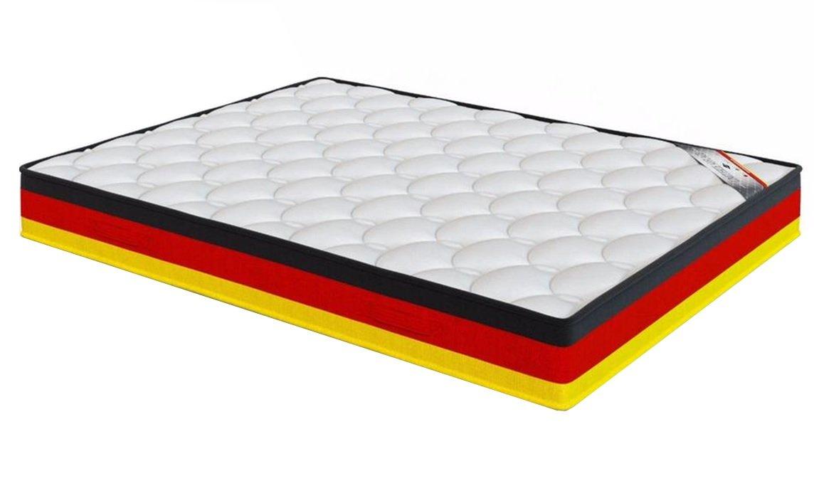 El Almacen del Colchón - Colchón VISCOGRAFENO Carbono Modelo Alemania, 80 x 200 x 26cm, Máxima Adaptabilidad - Todas Las Medidas, Negro, Rojo y Amarillo: ...