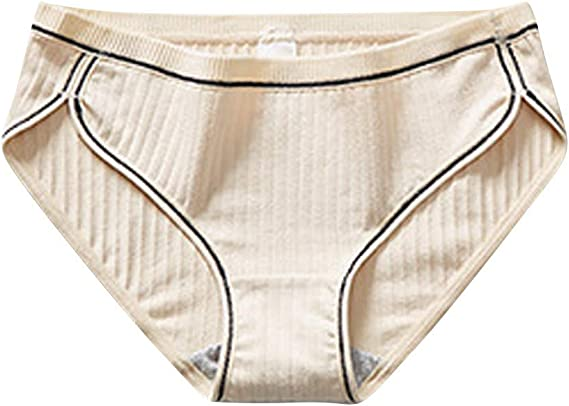 Ropa Interior Invisible para Mujer, MINXINWY Bragas Mujer Sin Costuras Cintura Media Braguitas Algodon 100% Color ...