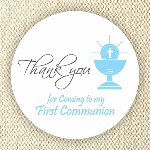 Communion Stickers - Boys Communion Stickers - Communion Favor Labels - Chalice Stickers - Set of 40 stickers from Philly Art & Crafts