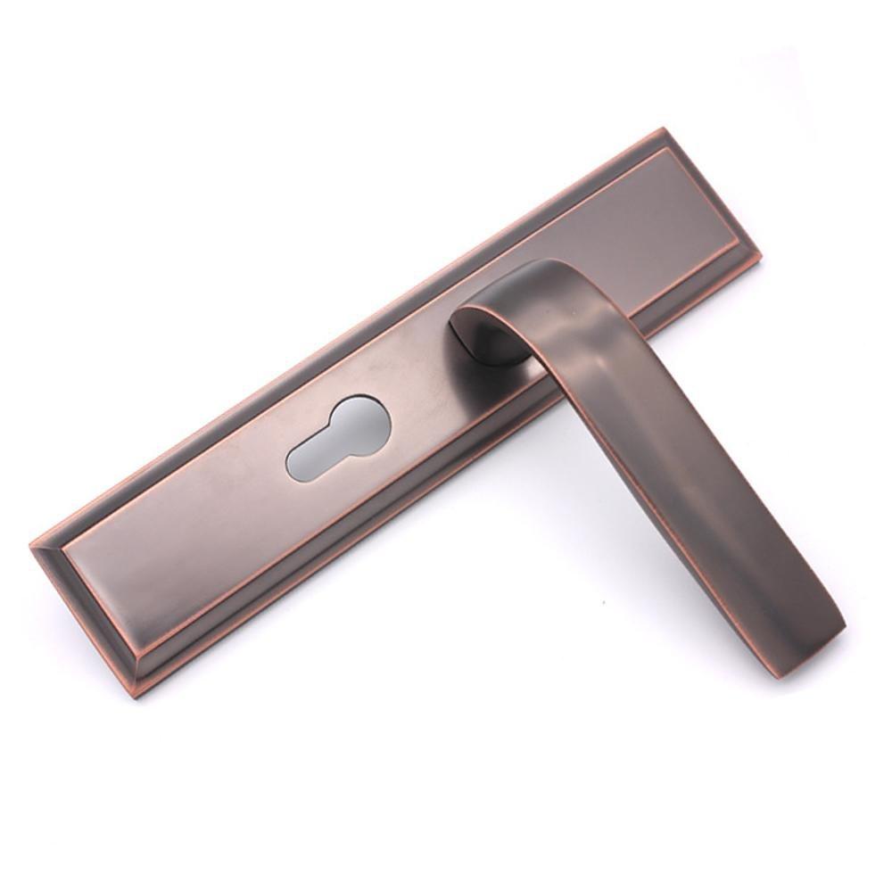 Jingzou Interior bedroom room door lock modern zinc alloy wood door handle lock hardware