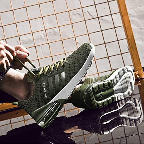 Interior Sneakers Da 36 Verde 1 Donna Corsa Uomo Ginnastica Casual 46eu Scarpe Sportivo Air All'aperto Tfqzfxw