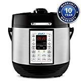 IAIQ Premium 6 Quart Pressure Cooker with 13-in-1 Cook Modes Including Slow Cooker and Manual Electric Pressure Cooker | Stainless Steel