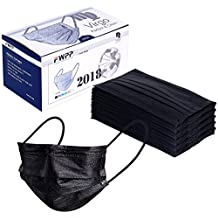 FWPP Earloop Disposable Surgical Flu Face Masks, 3+1(Filter Layer) Ply Thicker Super Filter Pollen Dust and Bacteria, Anti Allergy Dental Medical Procedure Mask, Pack of 50 Pcs (Dream Black)
