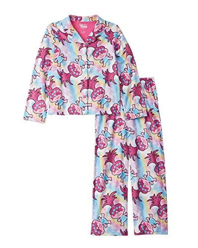 2 Piece Coat Pajamas - Dreamworks Girls' Toddler Trolls 2-Piece Pajama Coat Set, Popular Pink, 3T