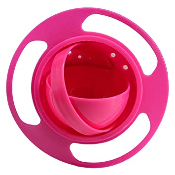 Baby Infant Toddlers Gyro Bowl Spill Resistant Gyroscopic Rotating Feeding
