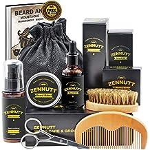 Ultimate Beard Care Kit for Men w/ Free Beard Conditioner & Beard Balm Butter & Beard Oil & 100% Boar Beard Brush & Wood Beard Comb & Beard & Mustache Scissors,Best Gift Set By ZENNUTT